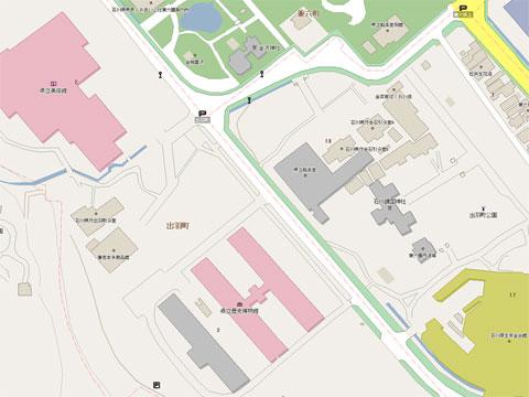 金沢市本多の森界隈地図